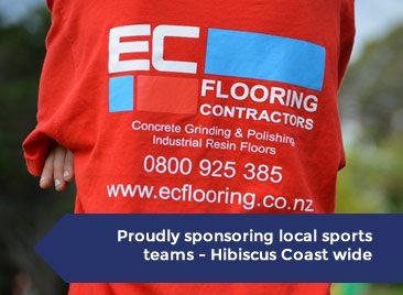 EC-Flooring Proud sponsors of Hibiscus coast sports