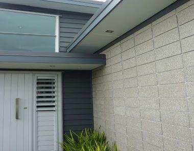external entrance honed concrete