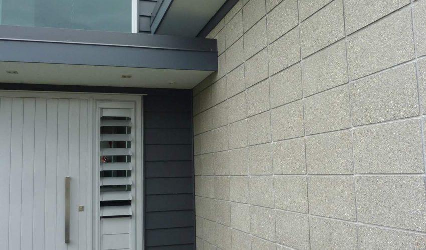 honed-concrete exterior -wall